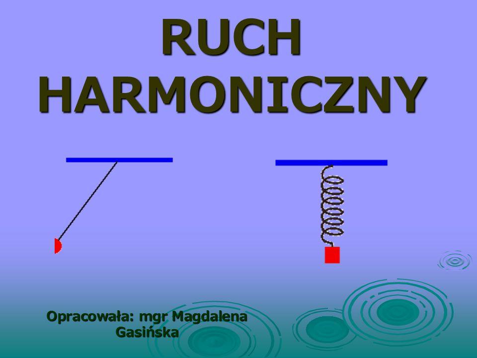 Energia w ruchu harmonicznym W każdym miejscu bez względu na położenie ciała: