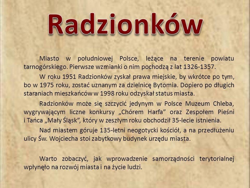 Miasto w południowej Polsce, leżące na terenie powiatu tarnogórskiego.