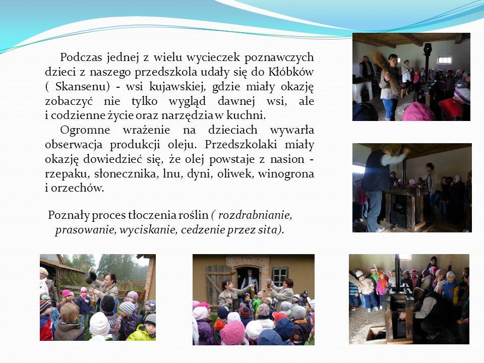 Podczas jednej z wielu wycieczek poznawczych dzieci z naszego przedszkola udały się do Kłóbków ( Skansenu) - wsi kujawskiej, gdzie miały okazję zobacz