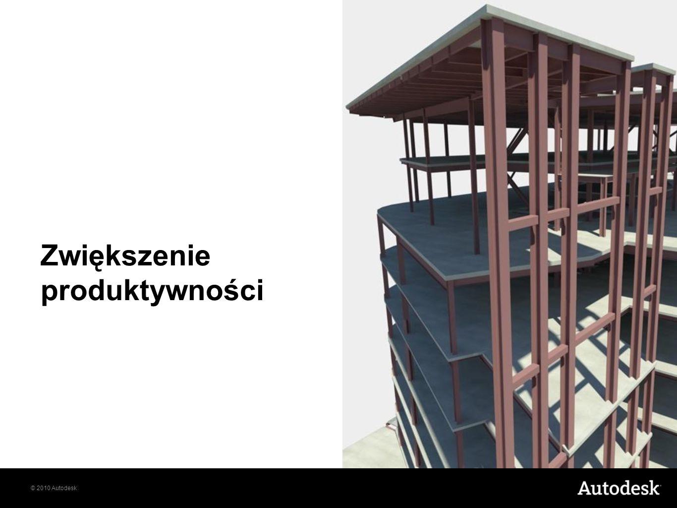 © 2010 Autodesk Zwiększenie produktywności