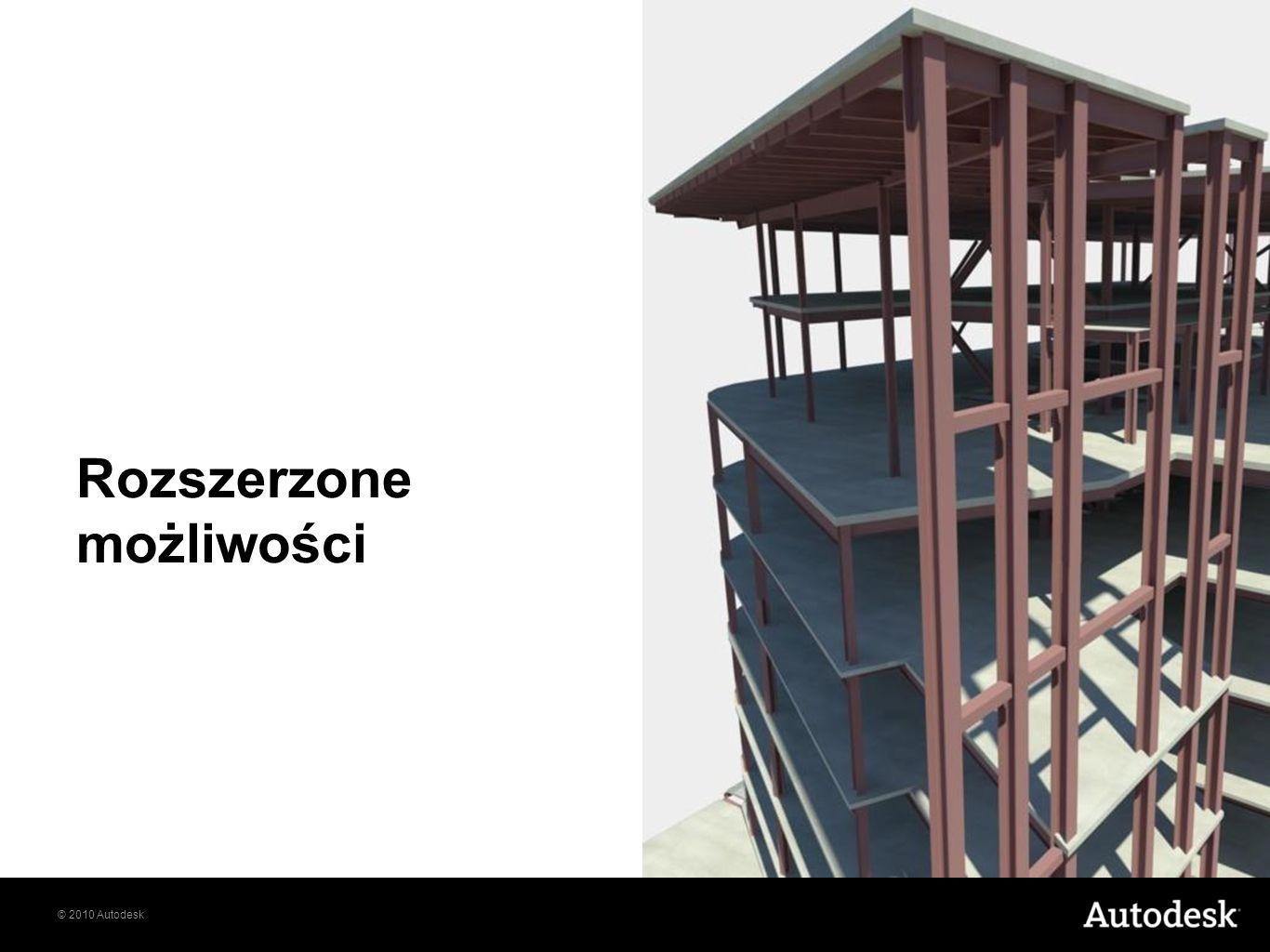 © 2010 Autodesk Rozszerzone możliwości