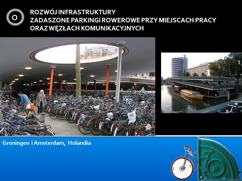 O ROZWÓJ INFRASTRUKTURY ZADASZONE PARKINGI ROWEROWE PRZY MIEJSCACH PRACY ORAZ WĘZŁACH KOMUNIKACYJNYCH Groningen i Amsterdam, Holandia