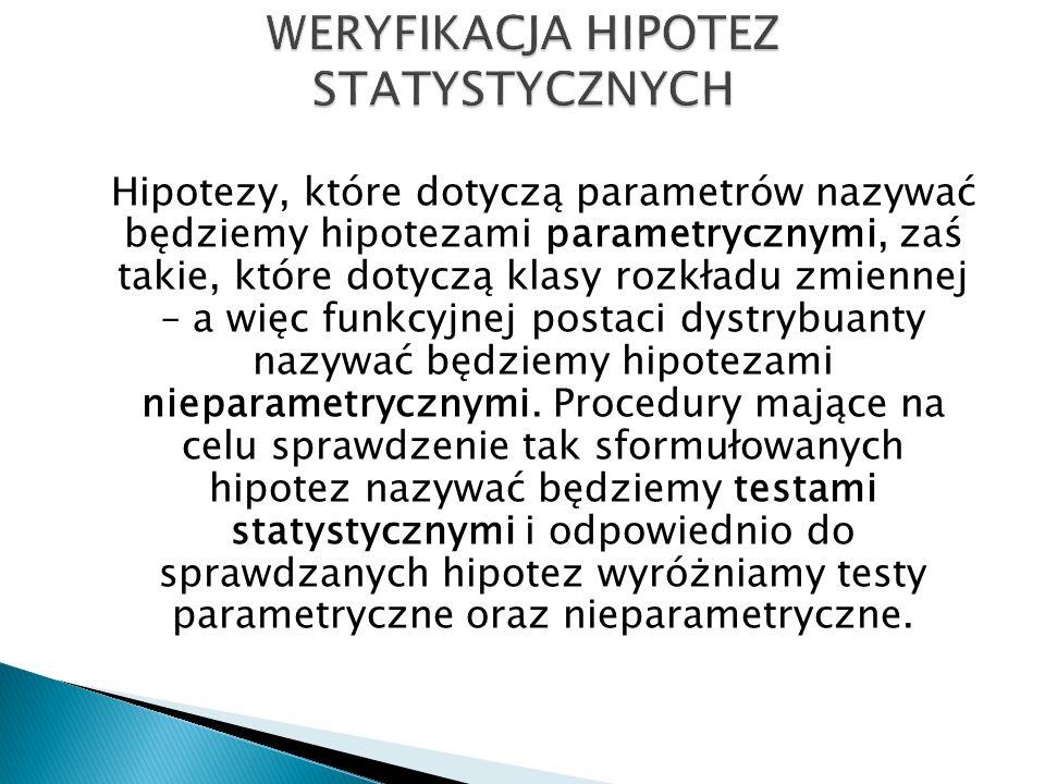 Przykład 1 Do badania wybrano 500 mieszkańców Rzeszowa, których poproszono o określenie, czy czują się bezpiecznie.