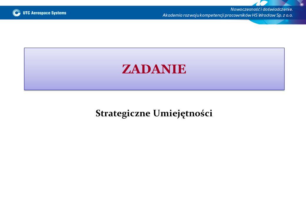 ZADANIE Strategiczne Umiejętności