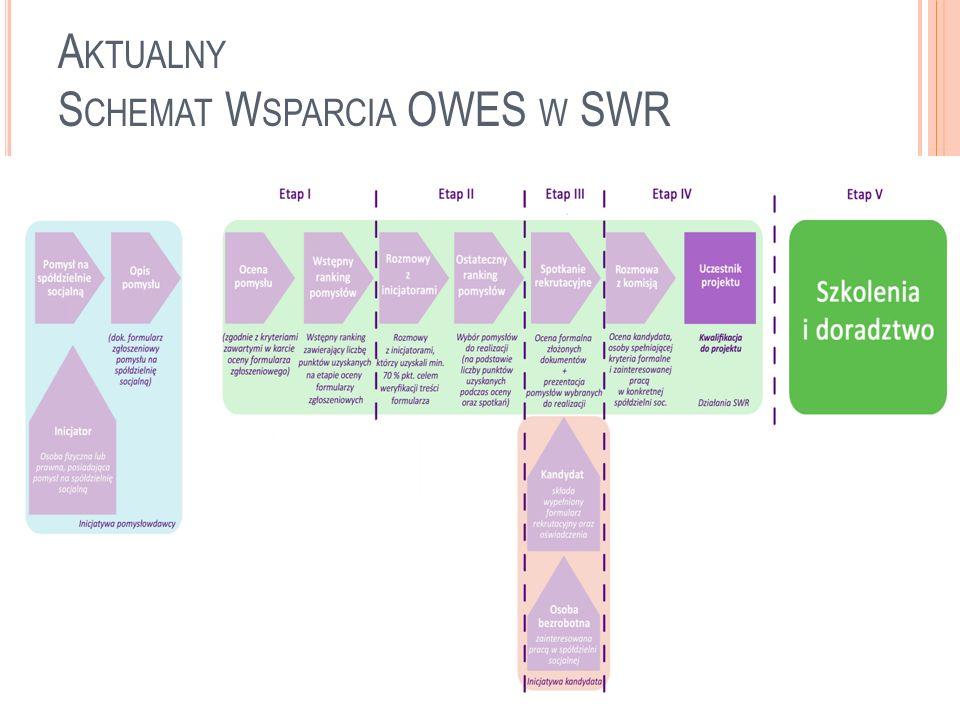 D ALSZE P LANY stworzenie sieci inkubatorów couveuse i pochodnych stworzenie systemu akredytacji couveuse w Polsce nowy model inkubatora – RAIN zwiększenie udziału finansowania zwrotnego w nowotworzonych spółdzielniach socjalnych wdrożenie hybrydowych modeli spółdzielni socjalnych (projekty wielkoskalowe) doskonalenie hybrydowego modelu wsparcia dla spółdzielni: dotacje na rozpoczęcie działalności i szkolenia z PUP podstawowe i przedłużone wsparcie pomostowe z SWR (jeśli dostępne) finansowanie zwrotne z funduszy via SWR project development, doradztwo i szkolenia z SWR