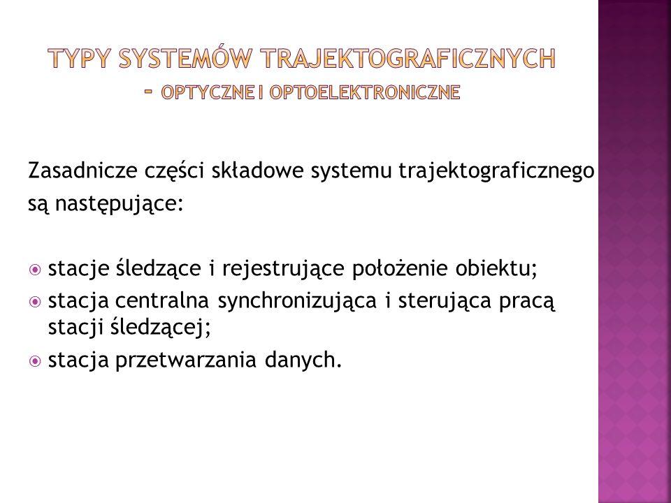 Zasadnicze części składowe systemu trajektograficznego są następujące: stacje śledzące i rejestrujące położenie obiektu; stacja centralna synchronizuj