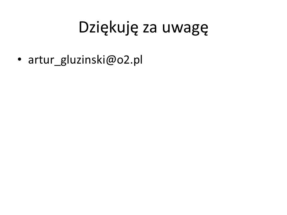 Dziękuję za uwagę artur_gluzinski@o2.pl
