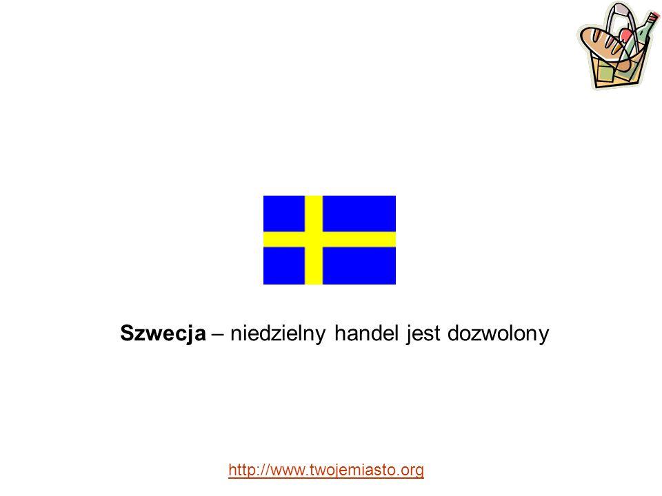 Szwecja – niedzielny handel jest dozwolony http://www.twojemiasto.org
