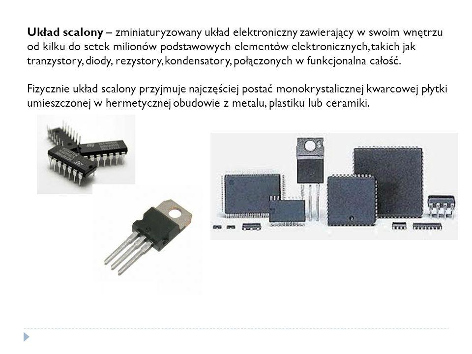 Układ scalony – zminiaturyzowany układ elektroniczny zawierający w swoim wnętrzu od kilku do setek milionów podstawowych elementów elektronicznych, takich jak tranzystory, diody, rezystory, kondensatory, połączonych w funkcjonalna całość.
