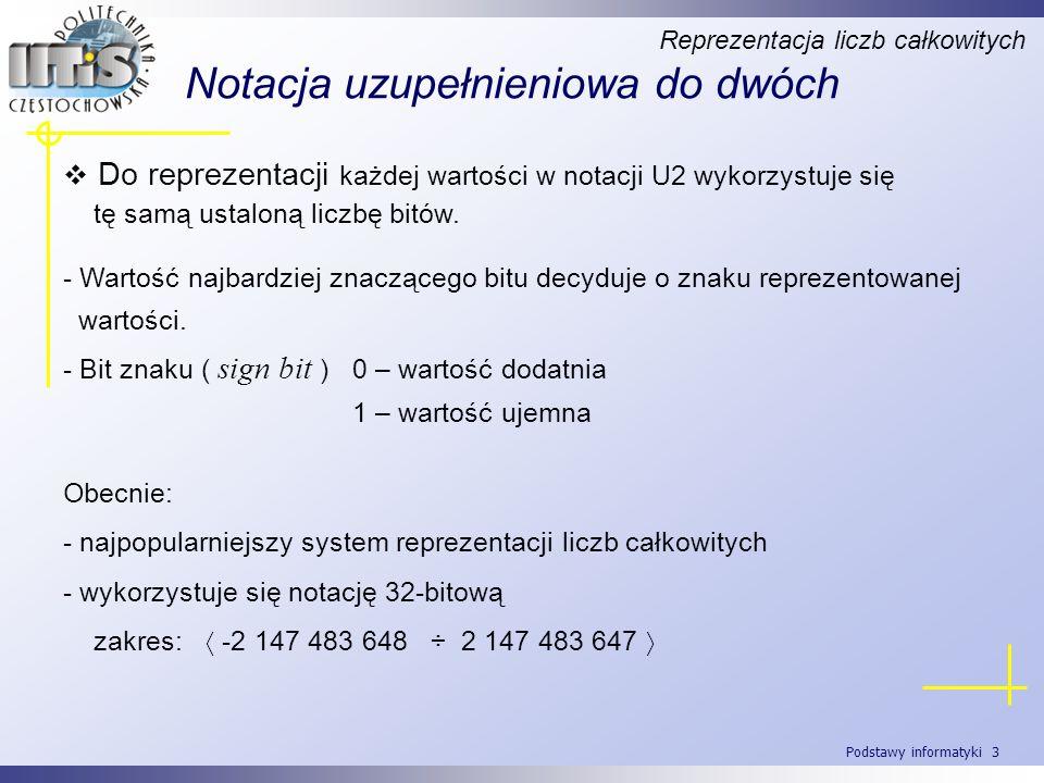 Podstawy informatyki 34 Przykład.