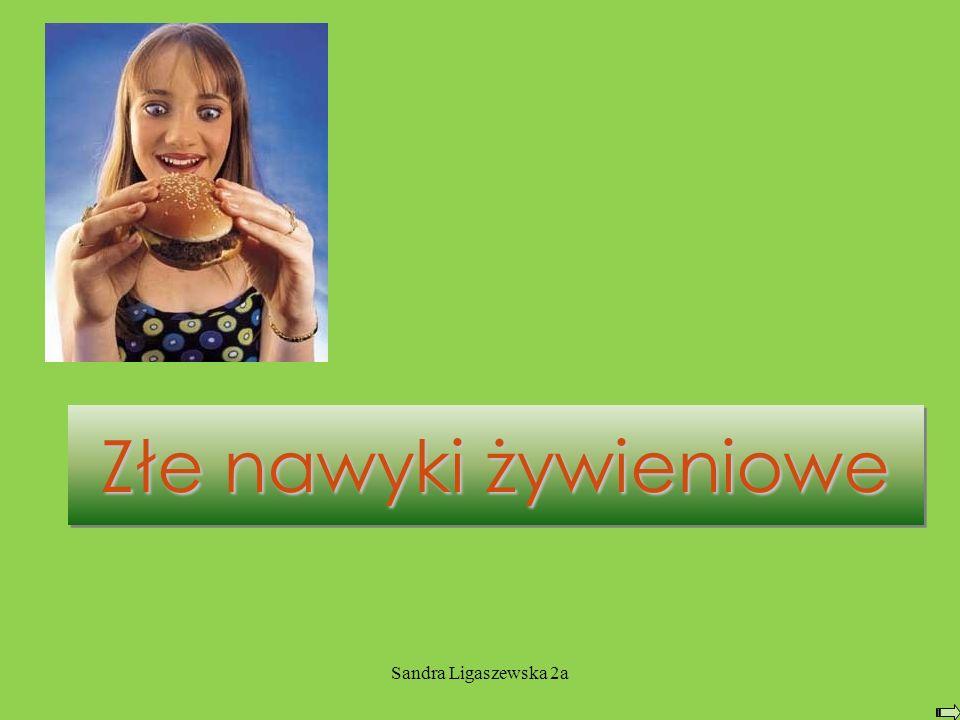 Sandra Ligaszewska 2a Złe nawyki żywieniowe