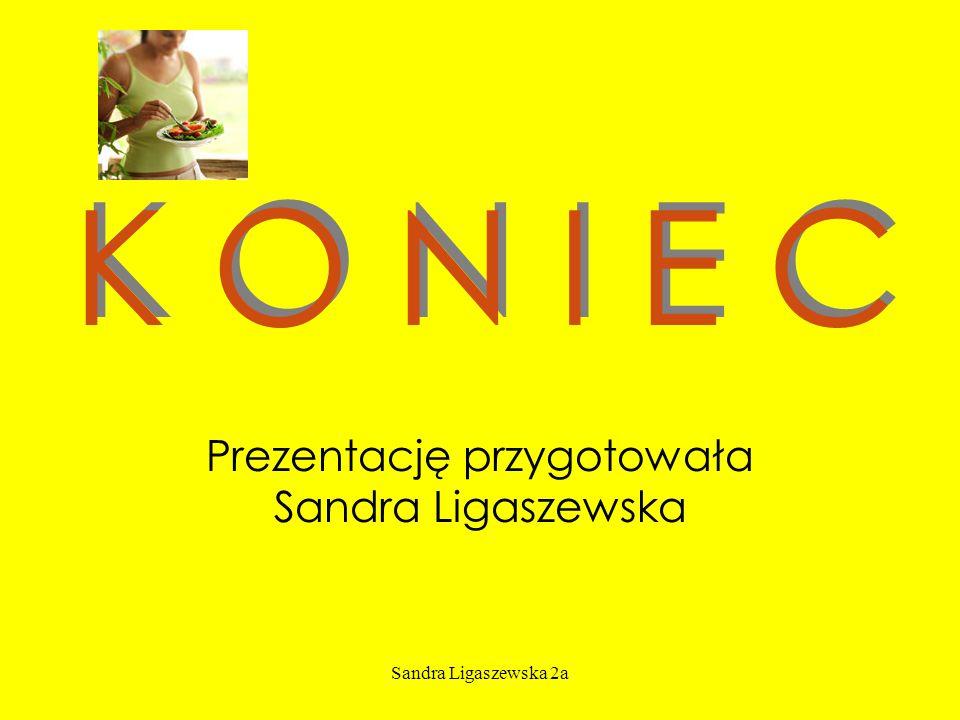 Sandra Ligaszewska 2a K O N I E C Prezentację przygotowała Sandra Ligaszewska