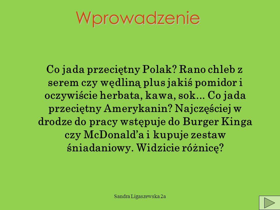 Sandra Ligaszewska 2aWprowadzenie Co jada przeciętny Polak.