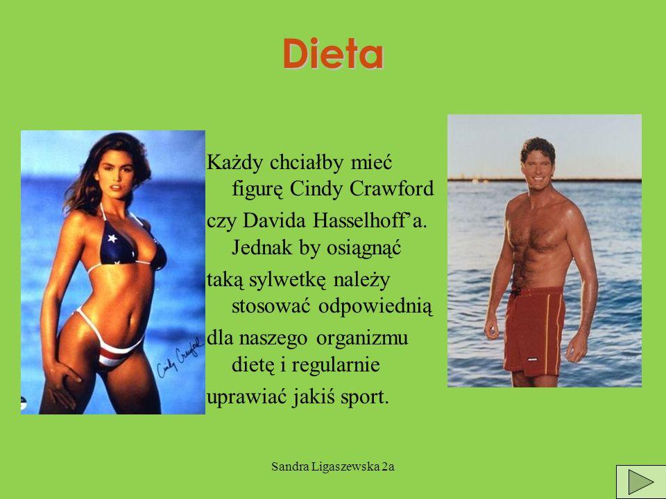 Sandra Ligaszewska 2a Dieta Każdy chciałby mieć figurę Cindy Crawford czy Davida Hasselhoffa.