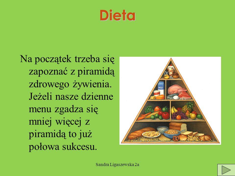 Sandra Ligaszewska 2aDieta Na początek trzeba się zapoznać z piramidą zdrowego żywienia.