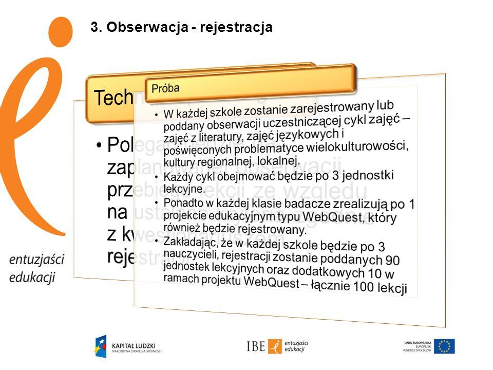 3. Obserwacja - rejestracja