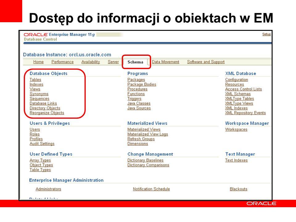 Dostęp do informacji o obiektach w EM