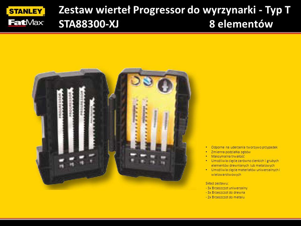 Zestaw wierteł Progressor do wyrzynarki - Typ T STA88300-XJ8 elementów Odporne na uderzenia tworzywo przypadek Zmienna podziałka zębów Maksymalna trwa