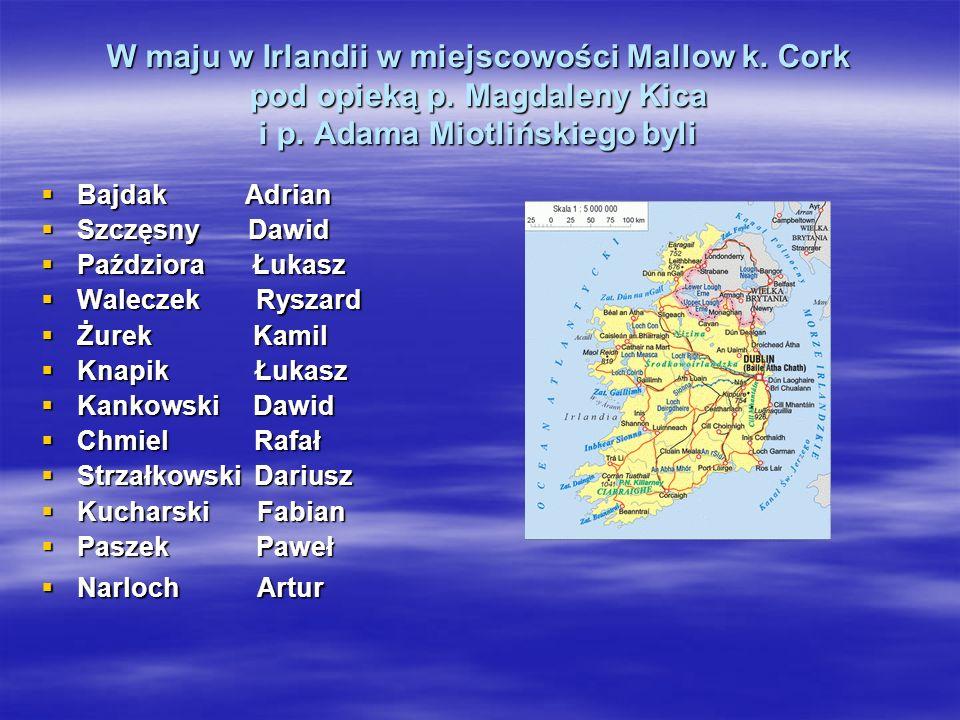 W maju w Irlandii w miejscowości Mallow k.Cork pod opieką p.