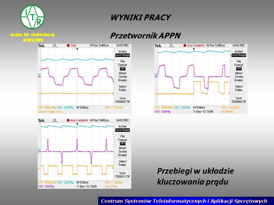 Instytut Tele- i Radiotechniczny WARSZAWA Centrum Systemów Teleinformatycznych i Aplikacji Sprzętowych WYNIKI PRACY Przetwornik APPN Przebiegi w układ