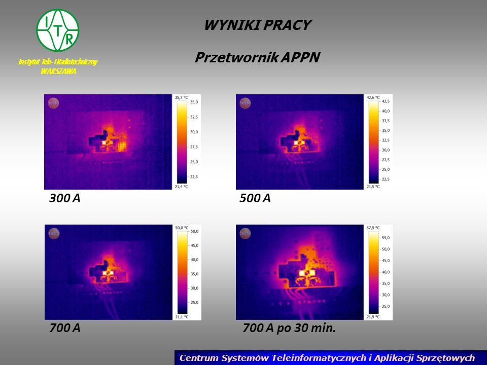 Instytut Tele- i Radiotechniczny WARSZAWA Centrum Systemów Teleinformatycznych i Aplikacji Sprzętowych WYNIKI PRACY Przetwornik APPN 300 A 500 A 700 A