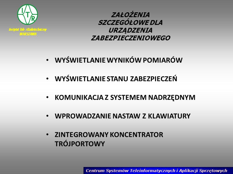 Instytut Tele- i Radiotechniczny WARSZAWA Centrum Systemów Teleinformatycznych i Aplikacji Sprzętowych PODSUMOWANIE W projekcie pracy statutowej zaplanowano wykonanie następujących prac: 2.