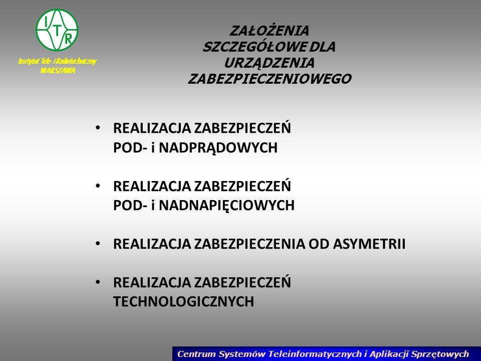 Instytut Tele- i Radiotechniczny WARSZAWA Centrum Systemów Teleinformatycznych i Aplikacji Sprzętowych PODSUMOWANIE W projekcie pracy statutowej zaplanowano wykonanie następujących prac: 3.