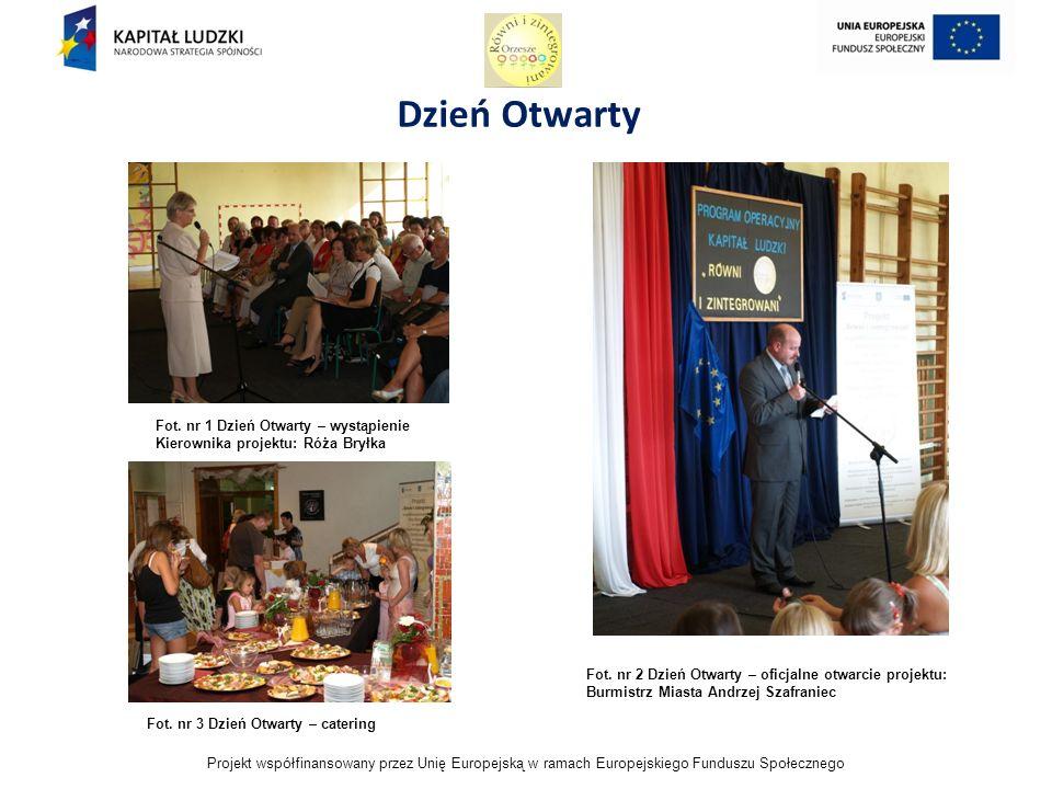 Projekt współfinansowany przez Unię Europejską w ramach Europejskiego Funduszu Społecznego Dzień Otwarty Fot.