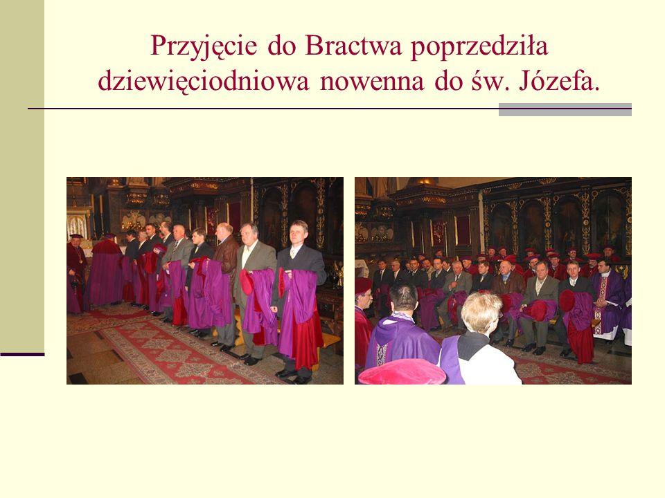 Przyjęcie do Bractwa poprzedziła dziewięciodniowa nowenna do św. Józefa.
