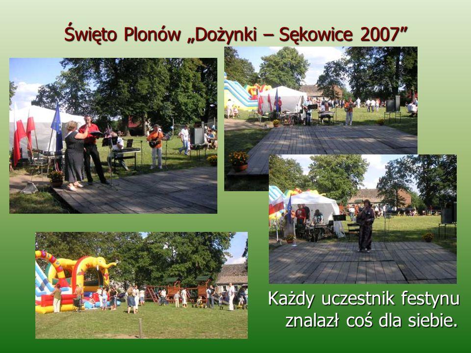 Święto Plonów Dożynki – Sękowice 2007 Każdy uczestnik festynu znalazł coś dla siebie.