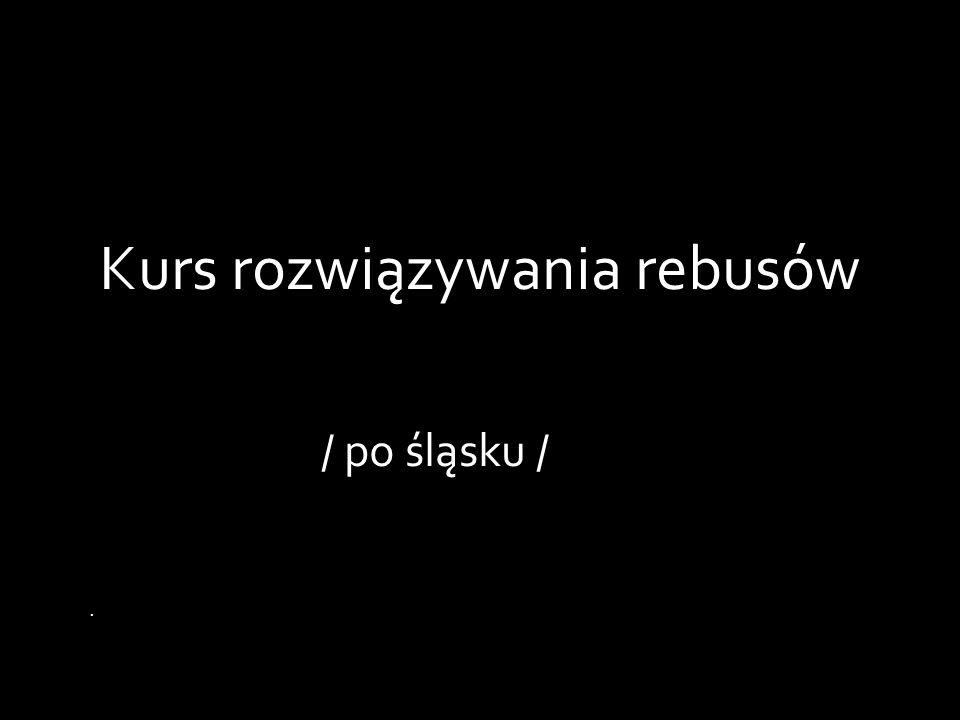 Kurs rozwiązywania rebusów / po śląsku /.