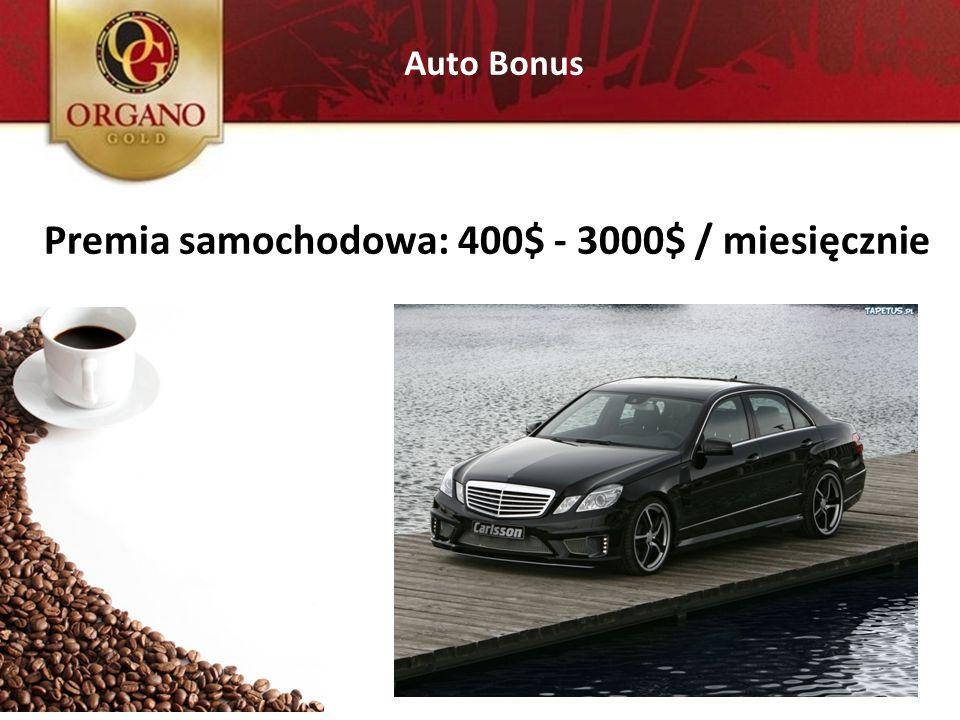 Auto Bonus Premia samochodowa: 400$ - 3000$ / miesięcznie