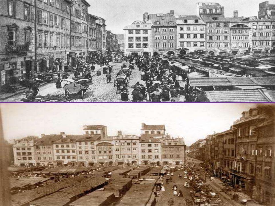 PLAC ZAMKOWY Miejsce spacerów Wokulskiego: Wszystko to roiło się między dwoma długimi ścianami kamienic pstrej barwy, nad którymi górowały wyniosłe fronty świątyń.