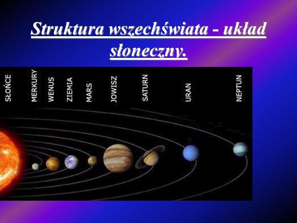 Struktura wszechświata - układ słoneczny.