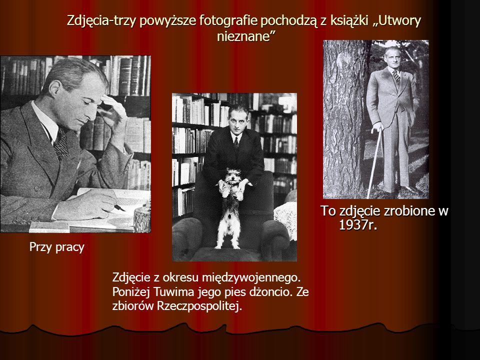 Zdjęcia-trzy powyższe fotografie pochodzą z książki Utwory nieznane To zdjęcie zrobione w 1937r. Przy pracy Zdjęcie z okresu międzywojennego. Poniżej