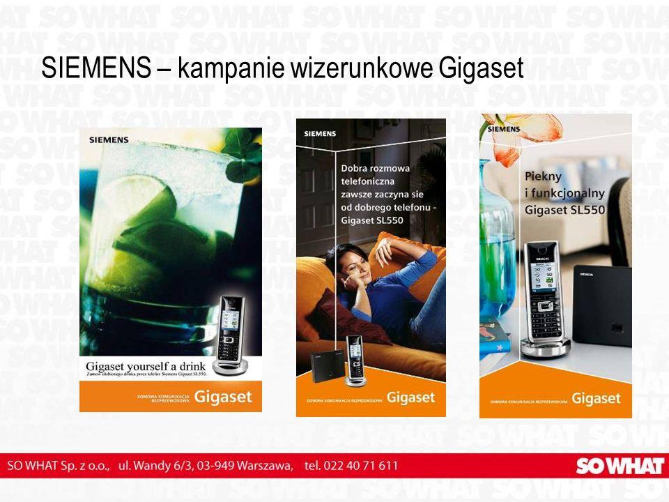 SIEMENS – kampanie wizerunkowe Gigaset