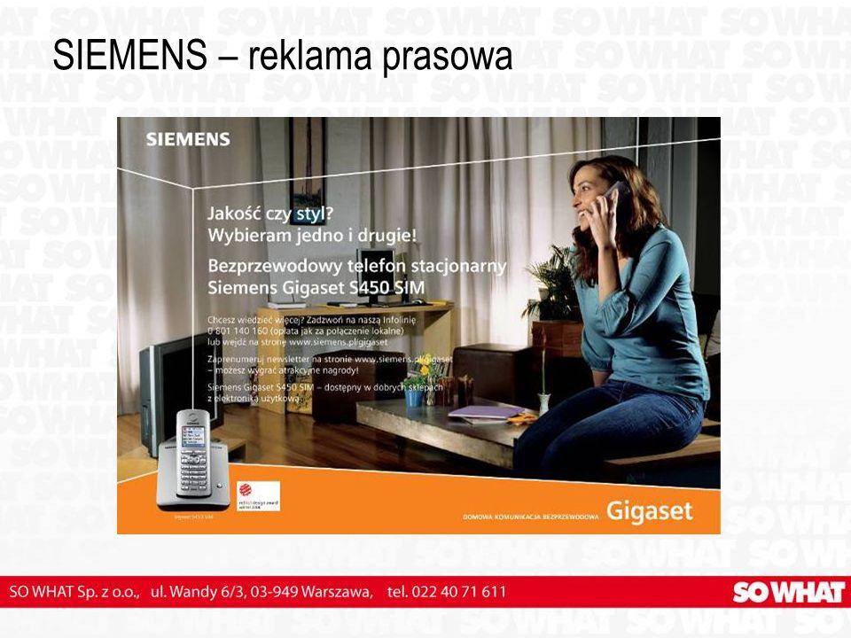 SIEMENS – reklama prasowa