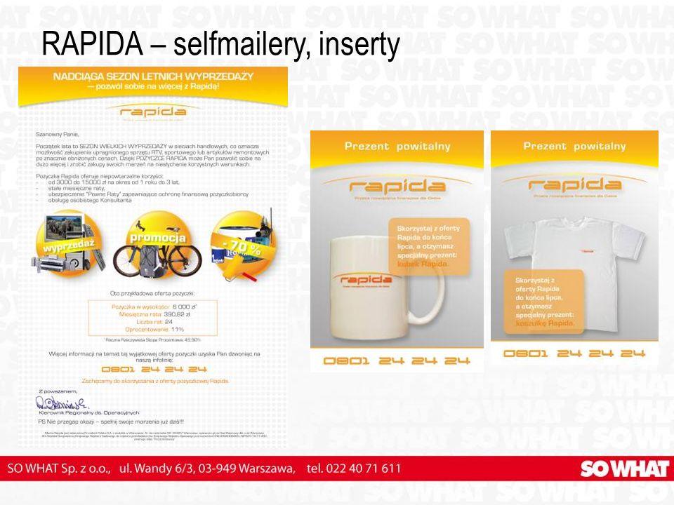 RAPIDA – selfmailery, inserty