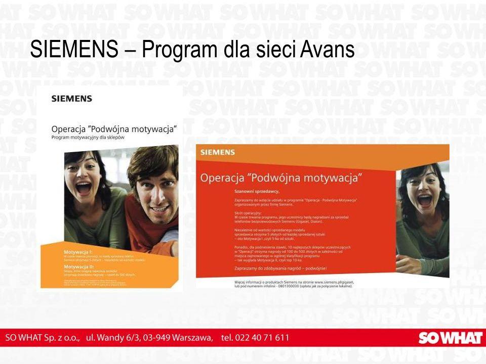 SIEMENS – Program dla sieci Avans