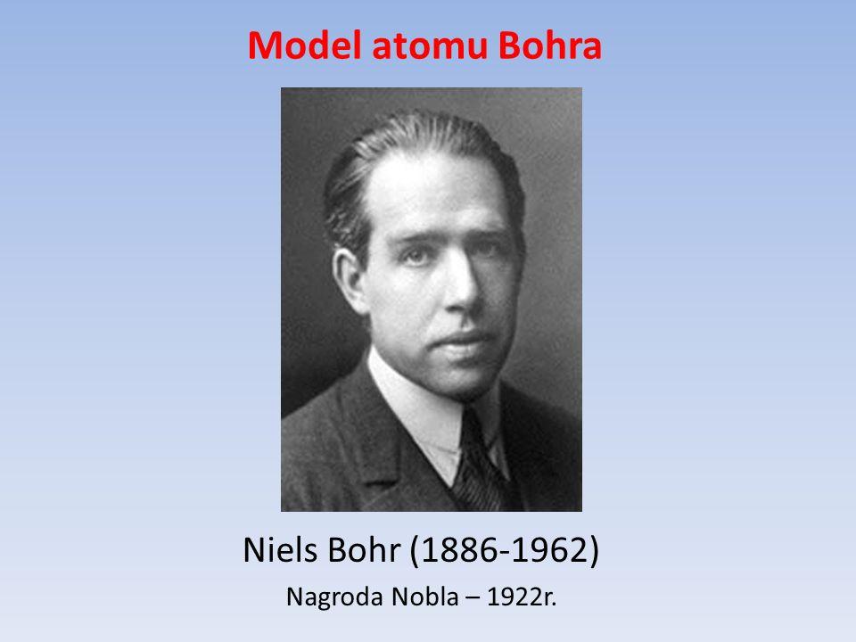 Model atomu Bohra Niels Bohr (1886-1962) Nagroda Nobla – 1922r.