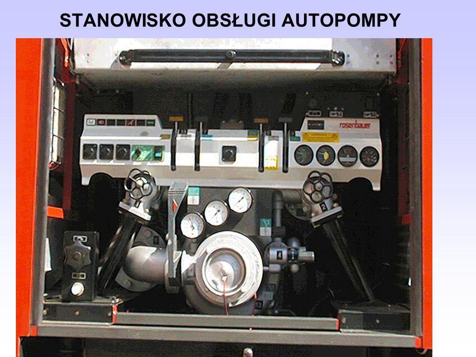 Uwagi dotyczące budowy i obsługi stanowiska wodnego Za prawidłową budowę i obsługę stanowiska wodnego odpowiedzialny jest mechanik obsługujący pompę pożarniczą.