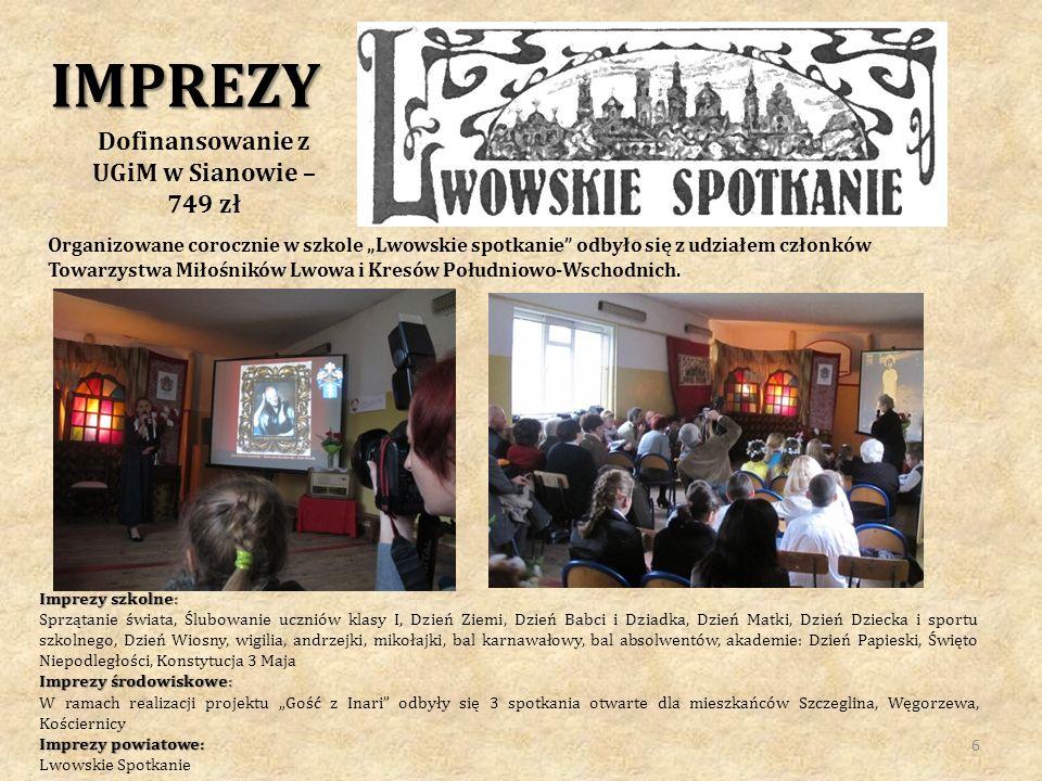 Projekt realizowany przez Stowarzyszenie Refugium i Szkołę Podstawową w Szczeglinie w roku szkolnym 2012/13