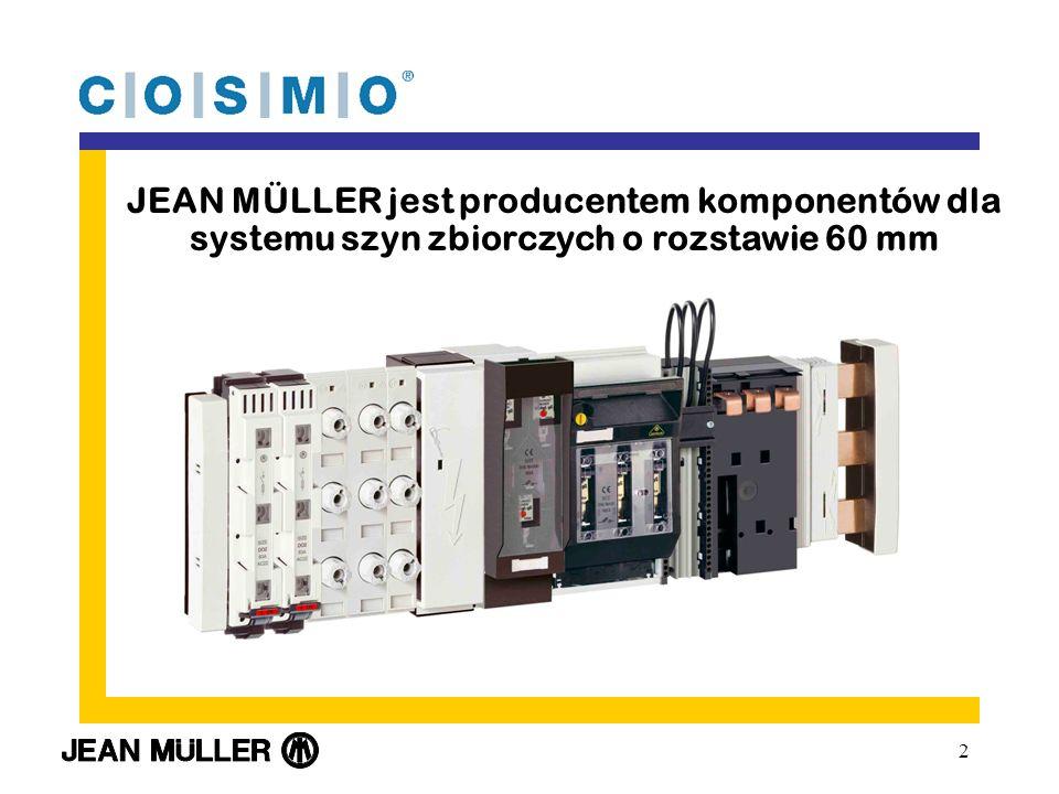 2 JEAN MÜLLER jest producentem komponentów dla systemu szyn zbiorczych o rozstawie 60 mm