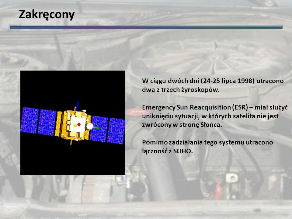 Zakręcony W ciągu dwóch dni (24-25 lipca 1998) utracono dwa z trzech żyroskopów.