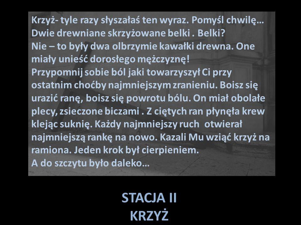 STACJA III PIERWSZY UPADEK