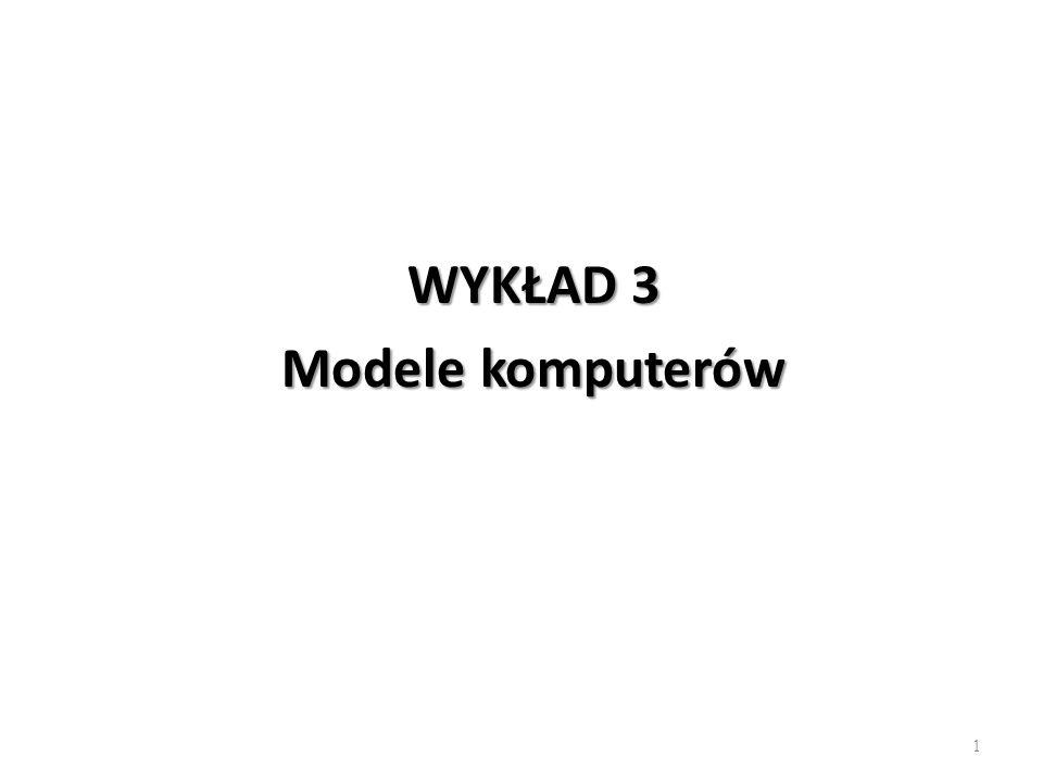 Metodyka nauczania Informatyki WYKŁAD 3 Modele komputerów 1