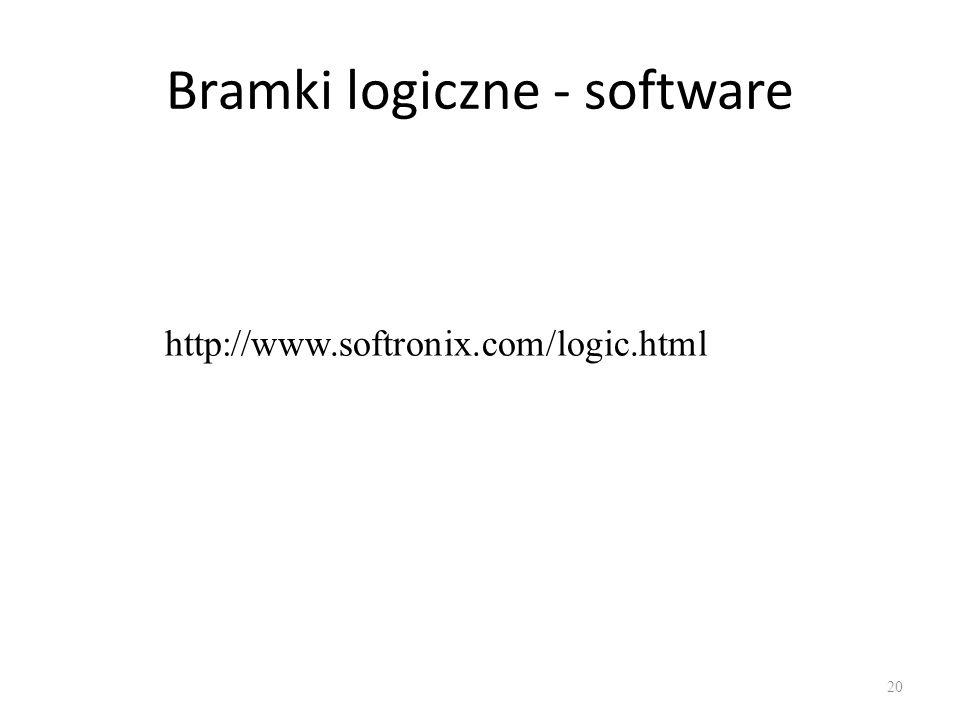 Bramki logiczne - software 20 http://www.softronix.com/logic.html
