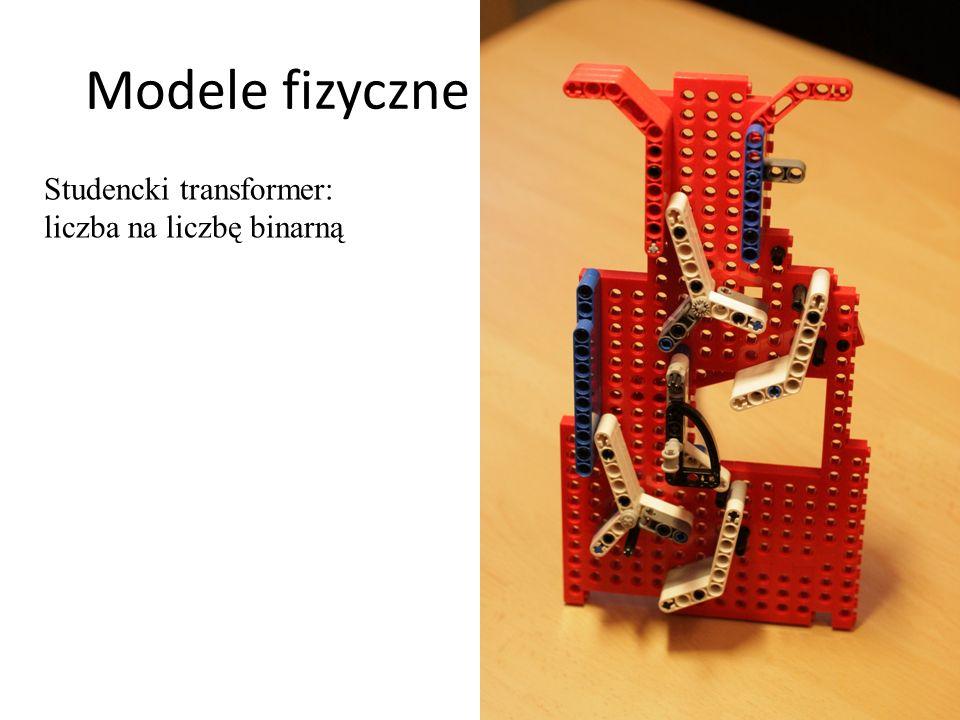 Modele fizyczne - mechaniczne 29 Studencki transformer: liczba na liczbę binarną