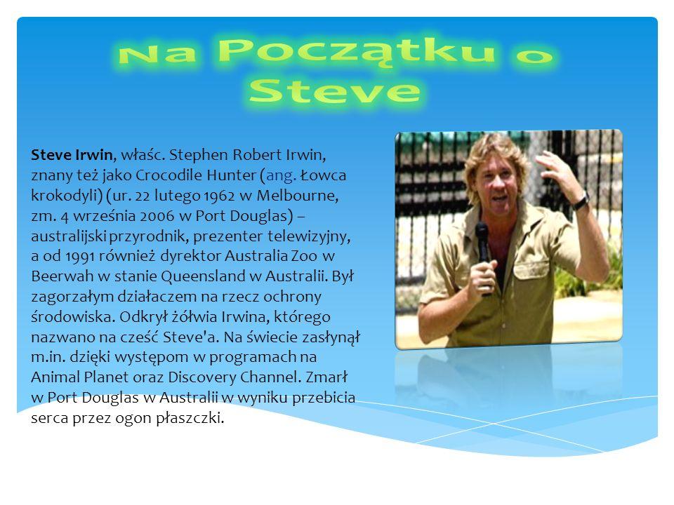 Steve Irwin, właśc. Stephen Robert Irwin, znany też jako Crocodile Hunter (ang. Łowca krokodyli) (ur. 22 lutego 1962 w Melbourne, zm. 4 września 2006