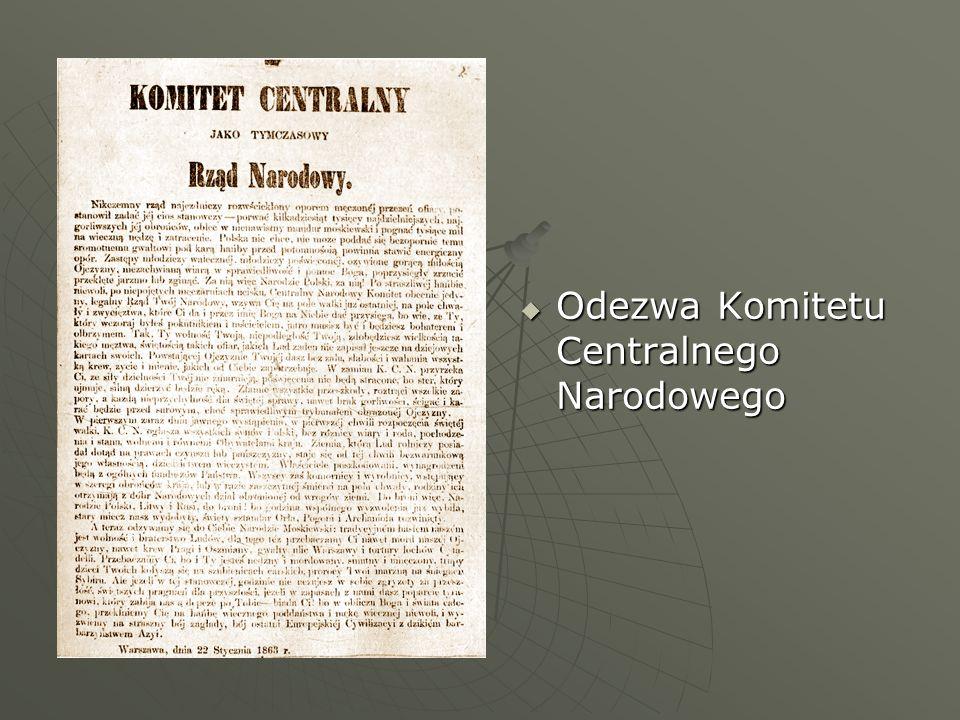 Odezwa Komitetu Centralnego Narodowego Odezwa Komitetu Centralnego Narodowego